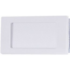 Вентиляционная решетка белая 11х17 мм