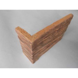 Терракотовая плитка Терракот Скол дерева Макси классик угловая